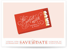 The Perfect Match Save the Date Cards