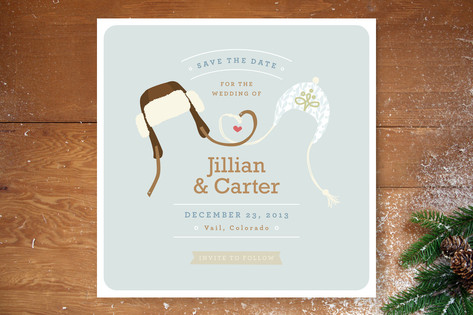 6 cute save the date card ideas indie wedding guide snow birds save the date cards junglespirit Choice Image