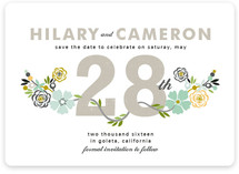 Floral Date Save the Date Cards