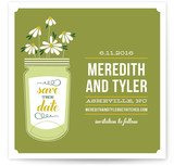 Wildflowers Mason Jar Save the Date Cards
