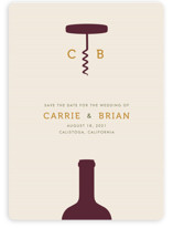 Uncorked Save the Date Cards