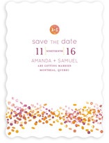 Abstract Autumn Save the Date Cards