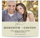 A Modern Yes Save the Date Cards
