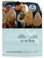 Woodgrain Love Save the Date Cards