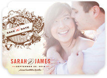Vintage Wine Barrel Save the Date Cards