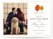 Fall in Love Save the Date Cards