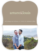 Pop of Color Save the Date Cards