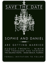 Chandelier Save the Date Cards