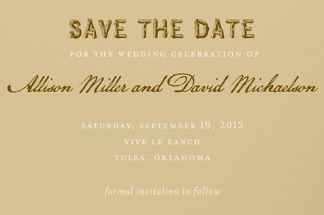 western posting save the date cards by oscar+emma