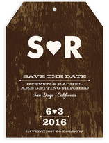 Black Veneer Save the Date Cards