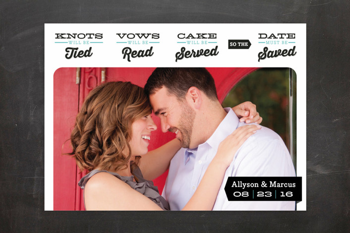 Knots Will Be Tied Save the Date Cards