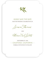 Simple Olive Save the Date Cards