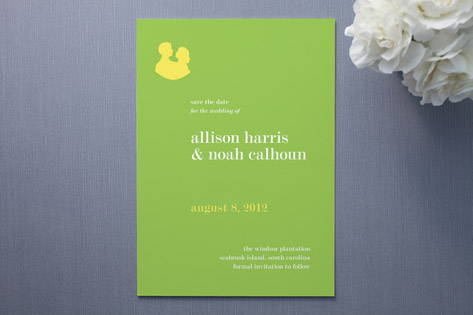 Sweet Silhouette Save the Date Cards