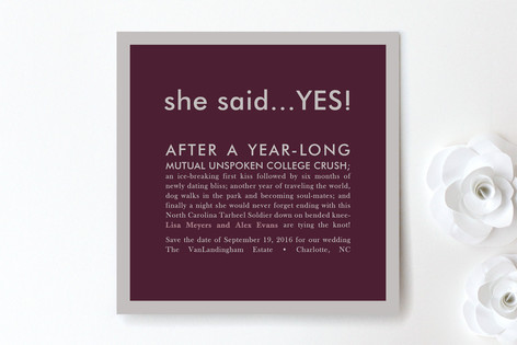 She Said Yes Save The Date Cards