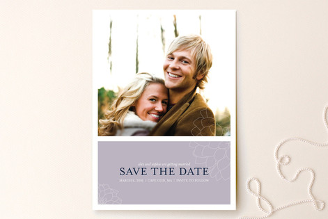 Subtle Dahlia Save the Date Cards