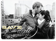 Calligraphy Save the Date Cards