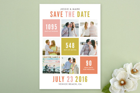 All In The Numbers Save The Date Cards
