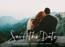 Stylish Script Save the Date Cards By Hooray Creative