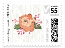 Rustic Wooded Romance Wedding Stamps