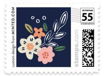 Wildflower Crest Wedding Stamps