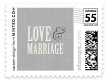 Crosshatch Wedding Stamps