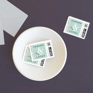Floral Ampersand Wedding Stamps