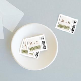 Evergreen Wedding Stamps