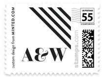 Modern Strands Wedding Stamps