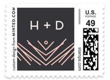 Artsy Border Wedding Stamps