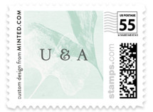 Ginkgo Flutters Wedding Stamps