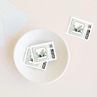 Botanical Name Plate Wedding Stamps