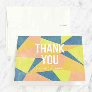 Abstract Age Sweet Sixteen Party Thank You Cards