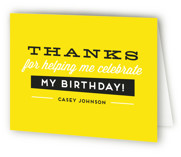 Big Numbers Sweet Sixteen Party Thank You Cards