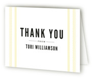 Fresh Linen Sweet Sixteen Party Thank You Cards