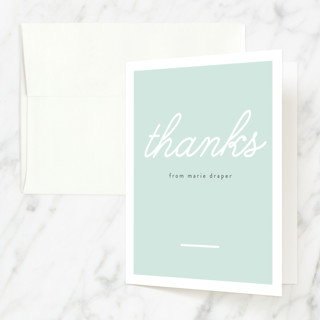 Big Name Sweet Sixteen Sweet Sixteen Party Thank You Cards
