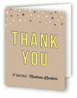 Kraft Confetti Sweet Sixteen Party Thank You Cards