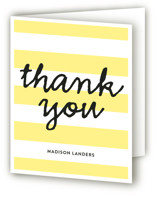 Stripes Sweet Sixteen Party Thank You Cards