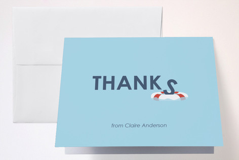 Lifesaver Sweet Sixteen Party Thank You Cards