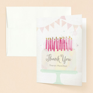 Painted Party Sweet Sixteen Party Thank You Cards