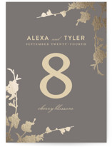 In Bloom Foil-Pressed Wedding Table Numbers
