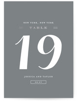 Just Lovely Foil-Pressed Wedding Table Numbers