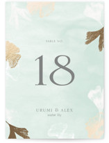 Ginkgo Flutters Foil-Pressed Wedding Table Numbers