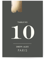 A Love So Bright Foil-Pressed Wedding Table Numbers