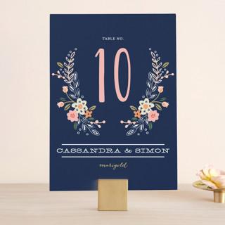 Wildflower Crest Wedding Table Numbers