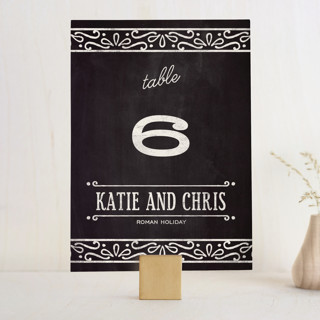 Slated Forever Wedding Table Numbers