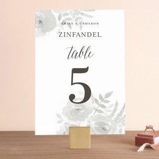 Watercolor Floral Wedding Table Numbers