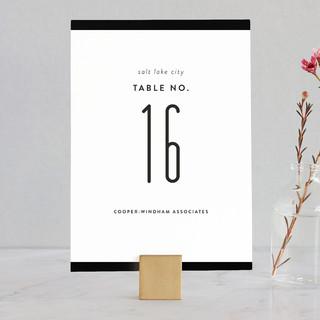 Black Tie Wedding Table Numbers