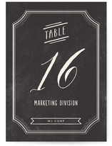 Merlot Wedding Table Numbers