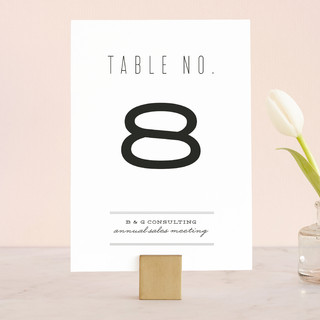 Mixed Type Wedding Table Numbers