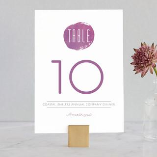 Plum Wedding Table Numbers